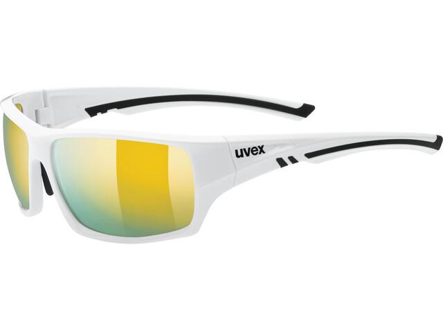 UVEX Sportstyle 222 Pola Sportglasses white/mirror yello